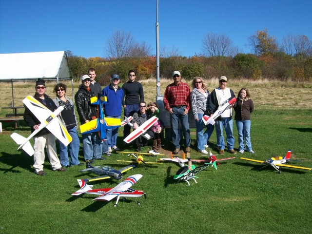 AeroJunkies at Burlington RC Flyers Club field on a gorgeous October day